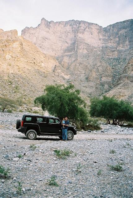 Hummer at Wadi Tanuf