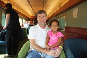 Malaika & I on The Ghan (Darwin to Alice on The Ghan)