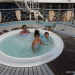 One of the Jacuzzis on board